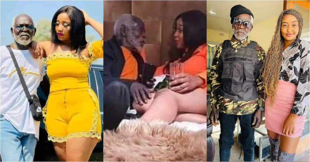 Young lady shows off her grey lover, netizens react.