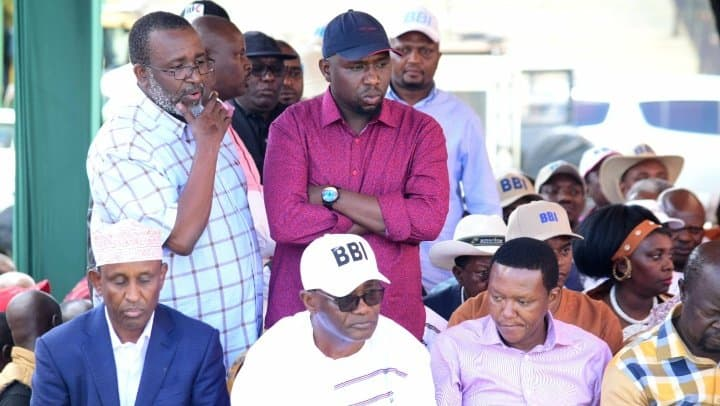 Meru: Moses Kuria storms out of Meru BBI rally shortly after his arrival
