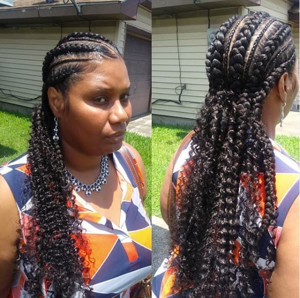 big cornrow hairstyles for round faces