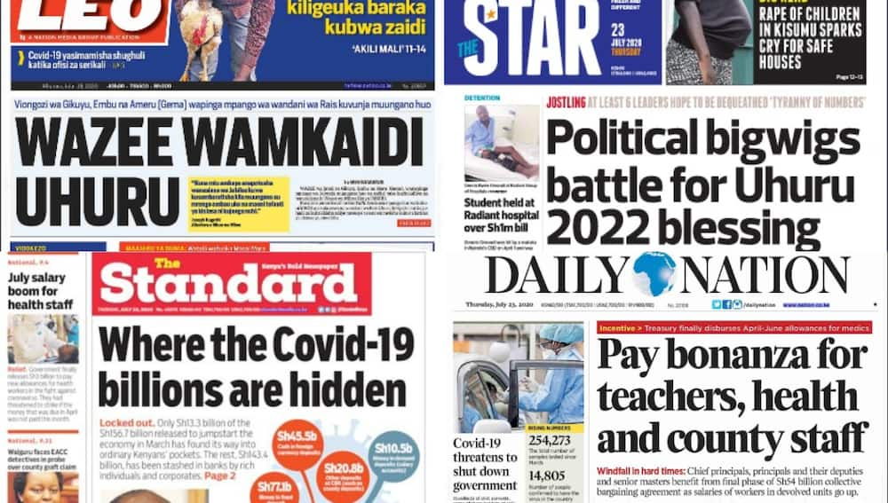 Kenyan newspapers review for July 23