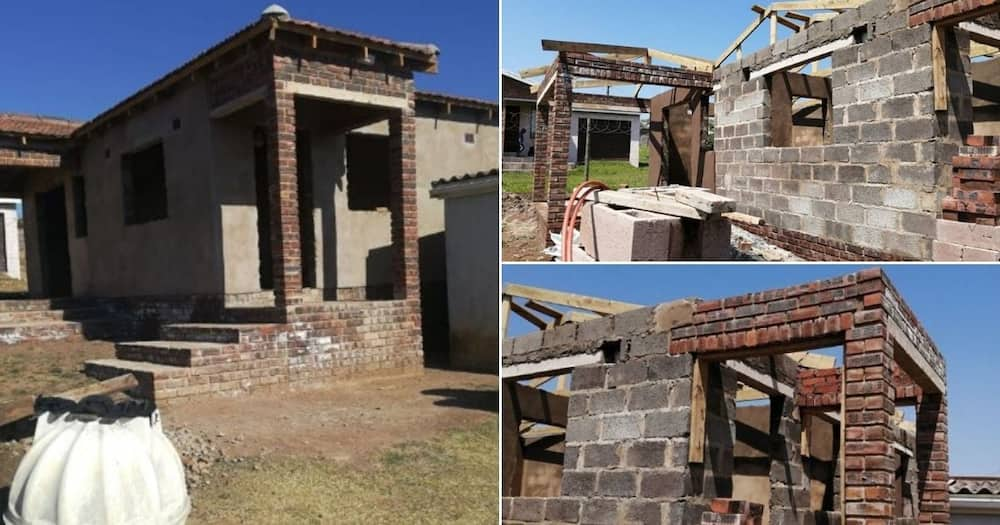 Family helps realise domestic worker's dream, starts building a house