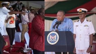 Mlinzi wa Rais Uhuru Aonekana kwa Mara ya Kwanza Akichangamka