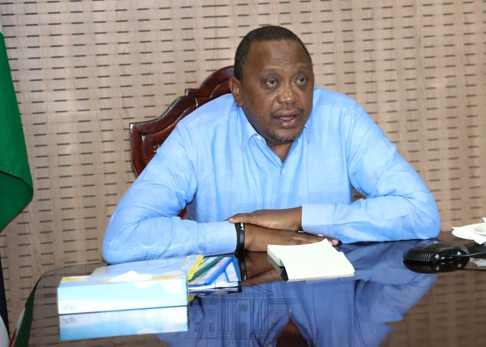 President Uhuru Kenyatta in a past meeting. Photo: State House Kenya