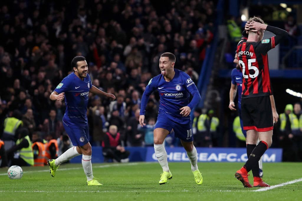Eden Hazard's late strike helps Chelsea beat Bournemouth 1 - 0