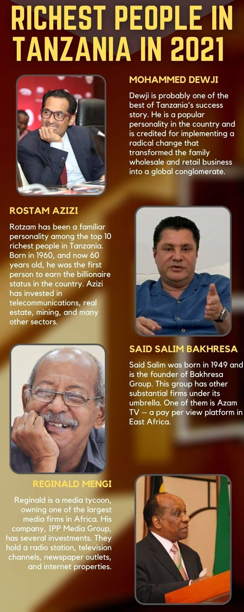 richest people in Tanzania