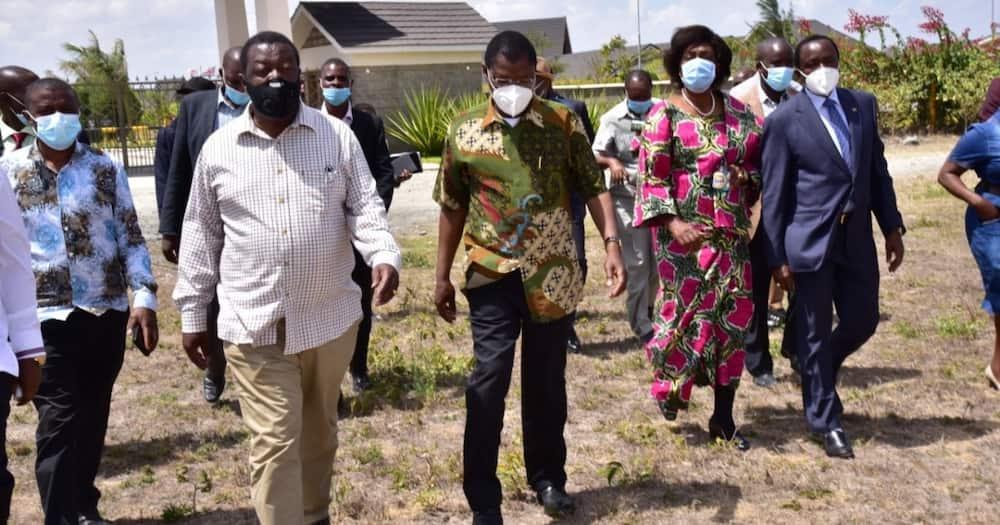 Kalonzo Musyoka, Moses Wetangula na Musalia Mudavadi walifanya kikao Jumatano. Picha: ANC