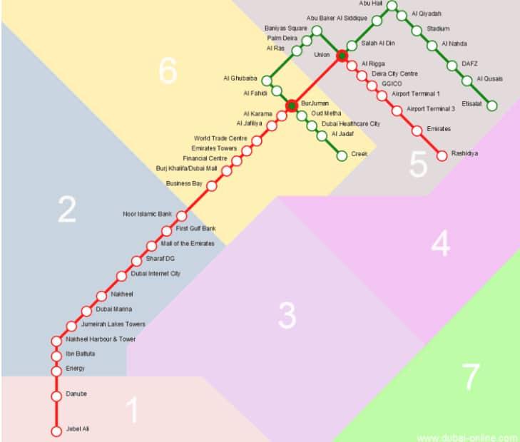 Dubai Metro timings 2019