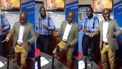 Boni Khalwale Shows Off Impressive Luhya Dance Moves During Radio Interview