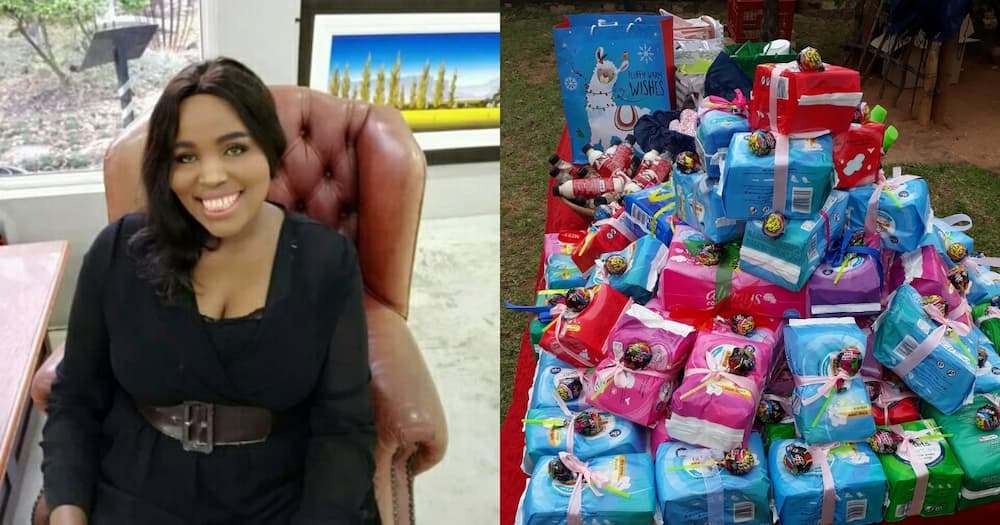 Woman gifted the needy with pads
