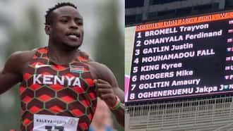 Ferdinand Omanyala Beats Justin Gatlin to Break Kenya's 100m National Record for The 5th Time