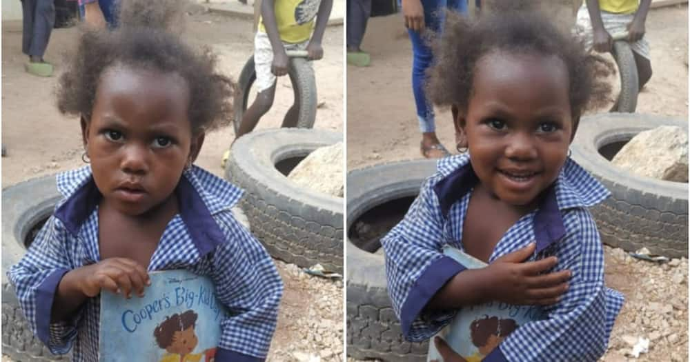 Little Girl who Habitually Loitered around School Gets Enrolled as Pupil, Gets Cash, Gifts Support from People