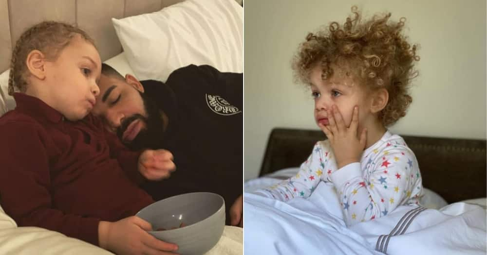 Super cute: Drake's son Adonis shows off basketball skills in viral video
