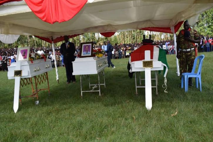 Emotional sendoff as KDF soldier who died saving drowning sons is buried