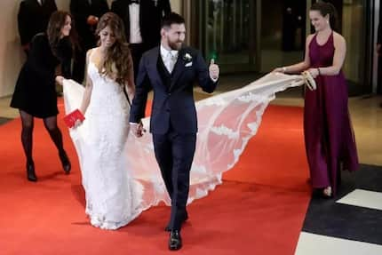 Glitz and glamour! Adorable behind the scene photos of Lionel Messi's wedding