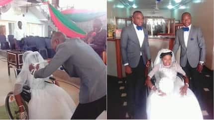This physically challenged woman ties the knot in style