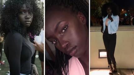 19-year-old Sudanese model with 'glowing' dark skin storms the internet with her new photos
