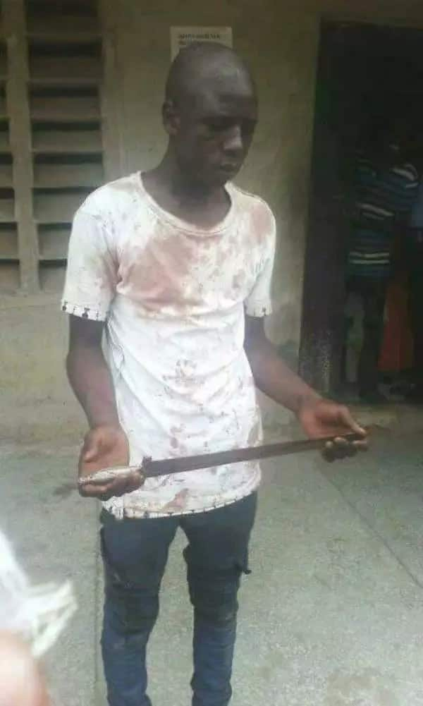 Man who robs in hijab finally nabbed in Niger state (photos)