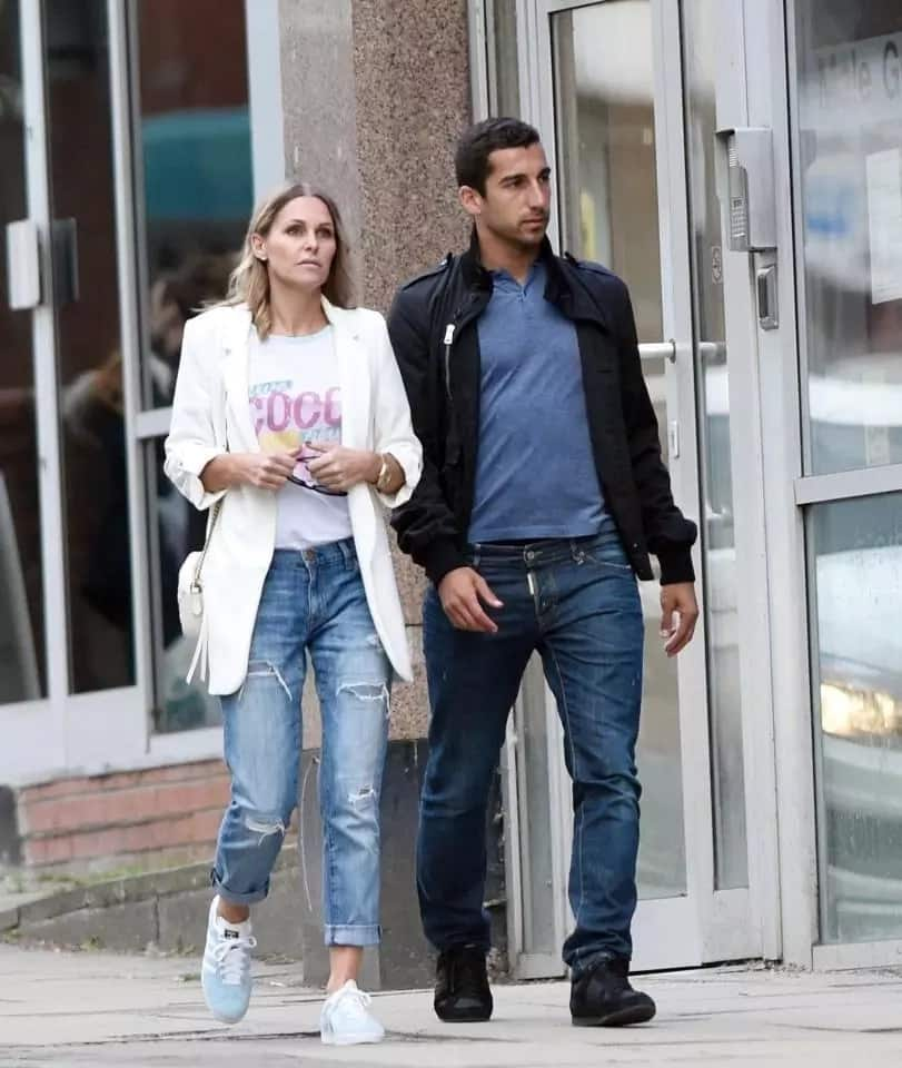 Man United star Henrikh Mkhitaryan snapped out with ex-wife of Liverpool star Djibril Cisse