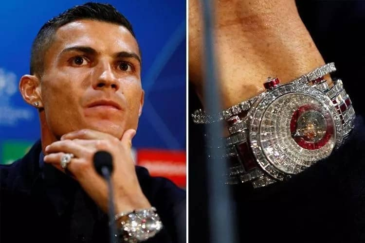 Cristiano Ronaldo shows off stunning diamond watch worth more than N874m
