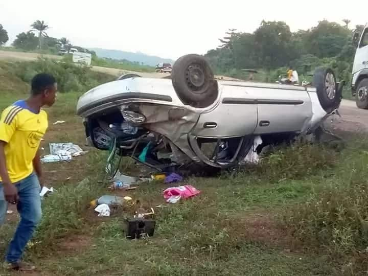 Reverend father, 4 others, survive after car somersaulted 3 times