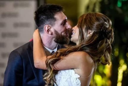 Touching! Ex-boyfriend to Lionel Messi's wife reacts as his lover marries superstar