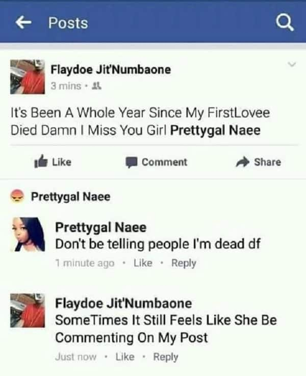 Boy announces his girlfriend's 'death' after breaking up with her