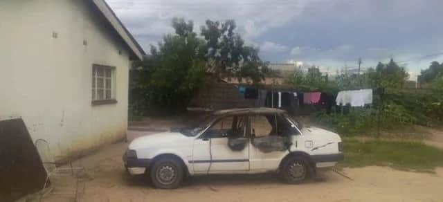Photo: Woman catches husband cheating, burns his car while he slept with mistress